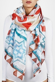 Printed Village American West Scarf - Front cropped