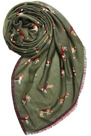 Printed Village Beagle Motif Scarf - Product Mini Image