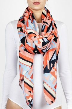 Printed Village Bright Geo Scarf - Product List Image