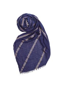 Shoptiques Product: Chevron Striped Scarf