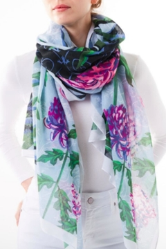 Printed Village Courtyard Mums Scarf - Product List Image