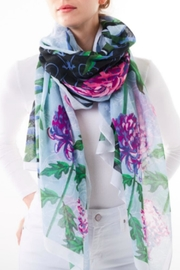 Printed Village Courtyard Mums Scarf - Product Mini Image