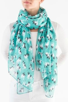 Printed Village French Bulldog Scarf - Product List Image