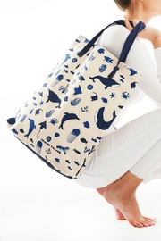 Printed Village Ocean Tote - Front cropped