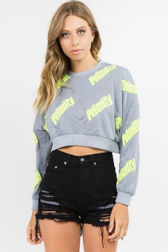 R+D Hipster Emporium  Priority Crop Pullover - Alternate List Image