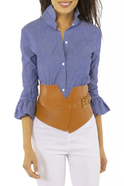 Gretchen scottt Priss Blouse Chambray - Product Mini Image