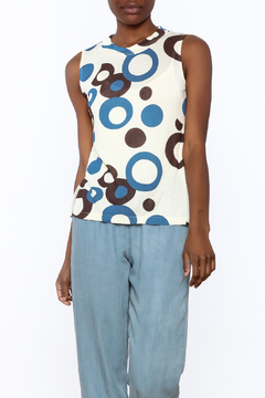 Private Label Blue Circles Tank Top - Product List Image