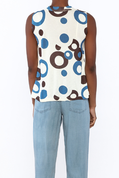 Private Label Blue Circles Tank Top - Alternate List Image