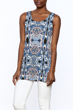 Private Label Blue Sleeveless Tunic Top - Product List Image