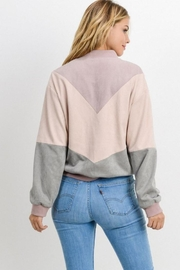 Private Label Colorblock Chevron Jacket - Back cropped