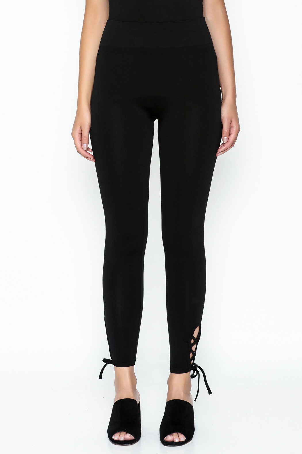 Private Label Criss Cross Leggings - Front Full Image