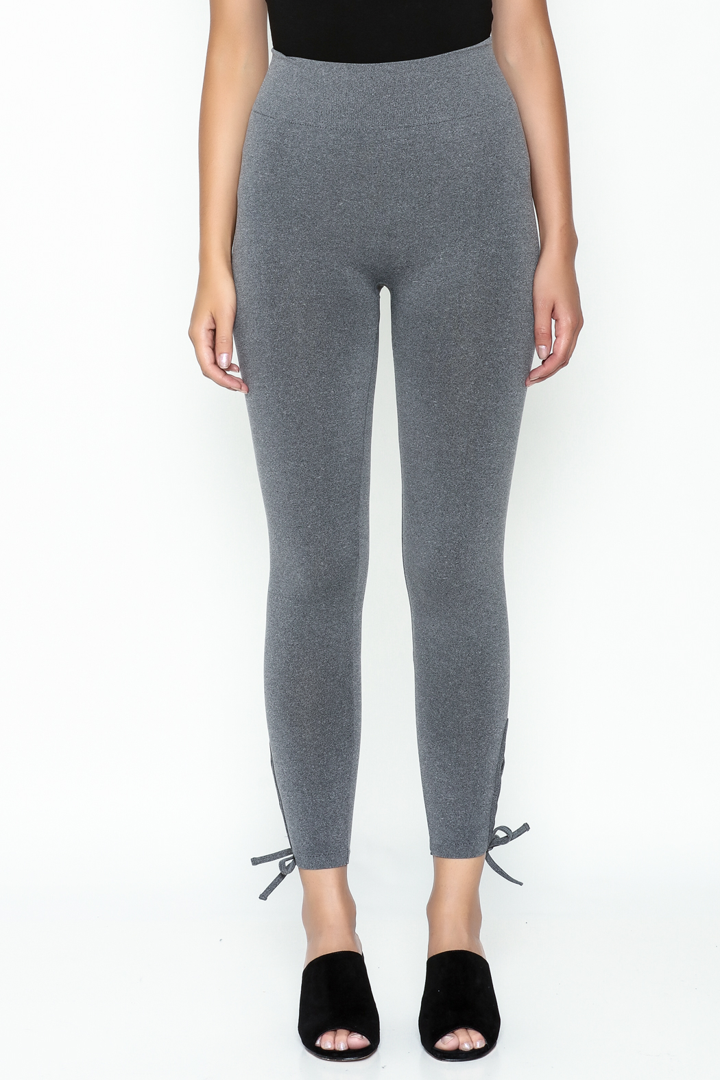 Private Label Criss Cross Leggings - Front Cropped Image