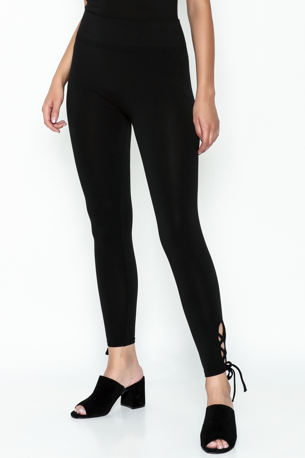 Private Label Criss Cross Leggings - Main Image