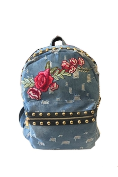 Shoptiques Product: Denim Studded Backpack