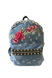 Private Label Denim Studded Backpack - Product Mini Image
