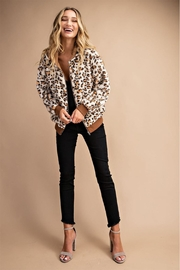 Private Label Leopard Faux-Fur Hoodie - Back cropped