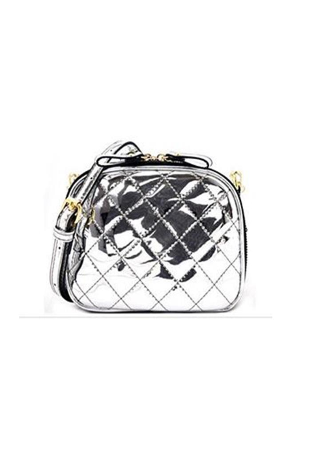Private Label Metallic Quilted Crossbody - Main Image