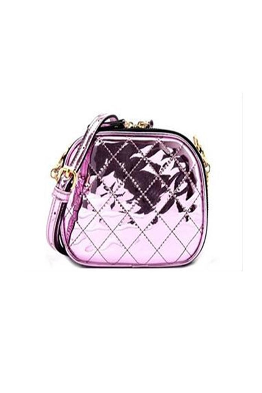 Private Label Metallic Quilted Crossbody - Front Cropped Image