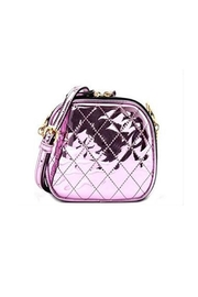 Private Label Metallic Quilted Crossbody - Front cropped