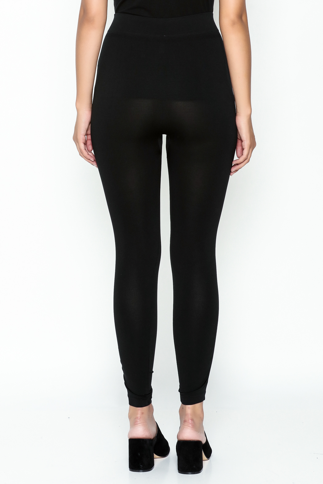 Private Label Ruched Leggings - Back Cropped Image