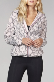 Private Label Sloane - White Python Full Zip Packable Rain Jacket - Product Mini Image