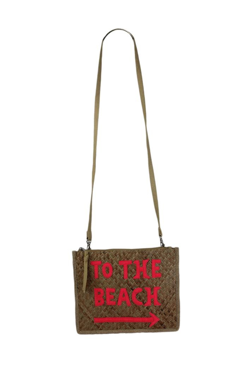 Private Label Summer Straw Crossbody - Front Cropped Image