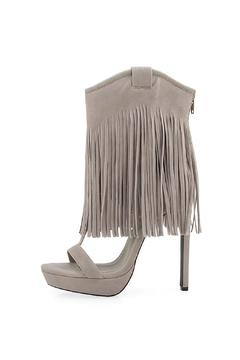 Shoptiques Product: Grey Fringe Heels