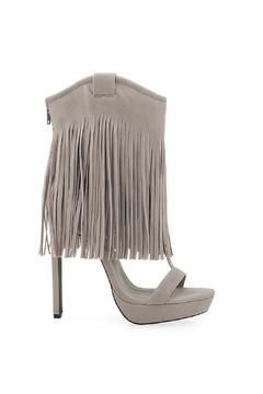Privileged Shoes Grey Fringe Heels - Alternate List Image