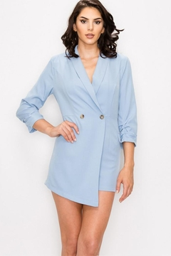 Shoptiques Product: Blue Jacket Romper