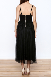 privy Black Embroidered Sleeveless Dress - Back cropped