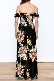 privy Black Floral Maxi Dress - Back cropped