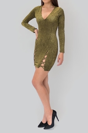 privy Gold Fitted Dress - Product Mini Image