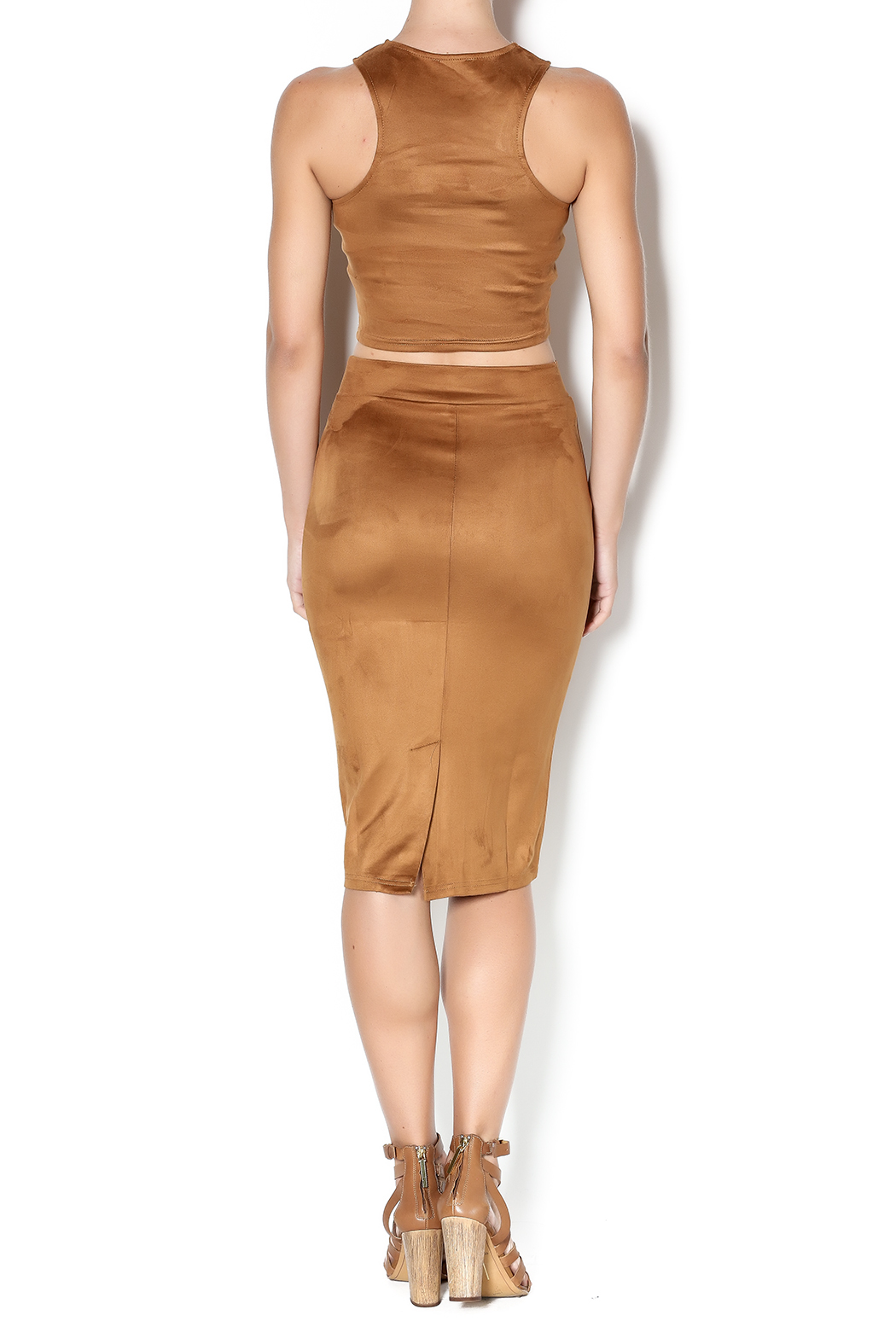 Suede Pencil Skirt — Shoptiques