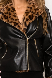 privy Leopard Fur Faux Leather Jacket - Other