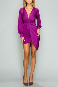 privy Magenta Party Dress - Product List Image