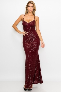 privy Sparkly Sequin Gown - Product List Image
