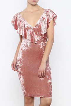 privy Pink Velvet Dress - Product List Image