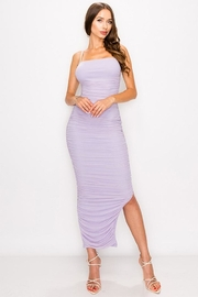 privy Ruched Mesh Dress - Product Mini Image