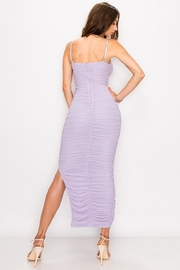 privy Ruched Mesh Dress - Front full body