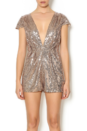 privy Sequin Romper - Front cropped