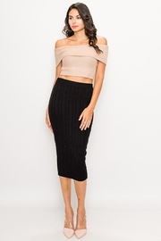 privy Soft Cable Knit Midi Skirt - Product Mini Image