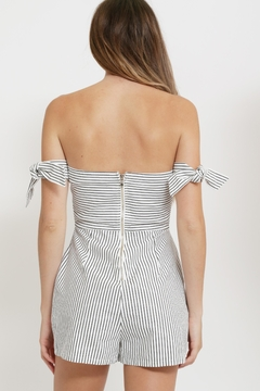 privy Stripe Off Shoulder Romper - Alternate List Image