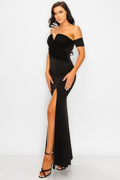 privy V-Wire Open Shoulder Gown - Product List Image