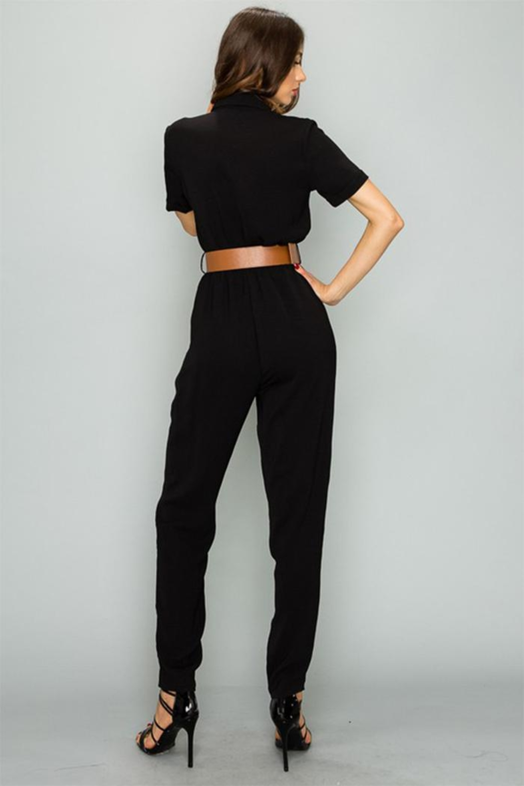 privy inc Button Down Jumpsuit - Side Cropped Image