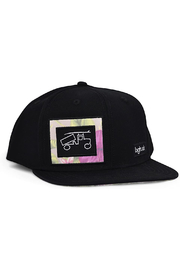 bigtruck Pro Black Floral Snapback Hat - Product Mini Image