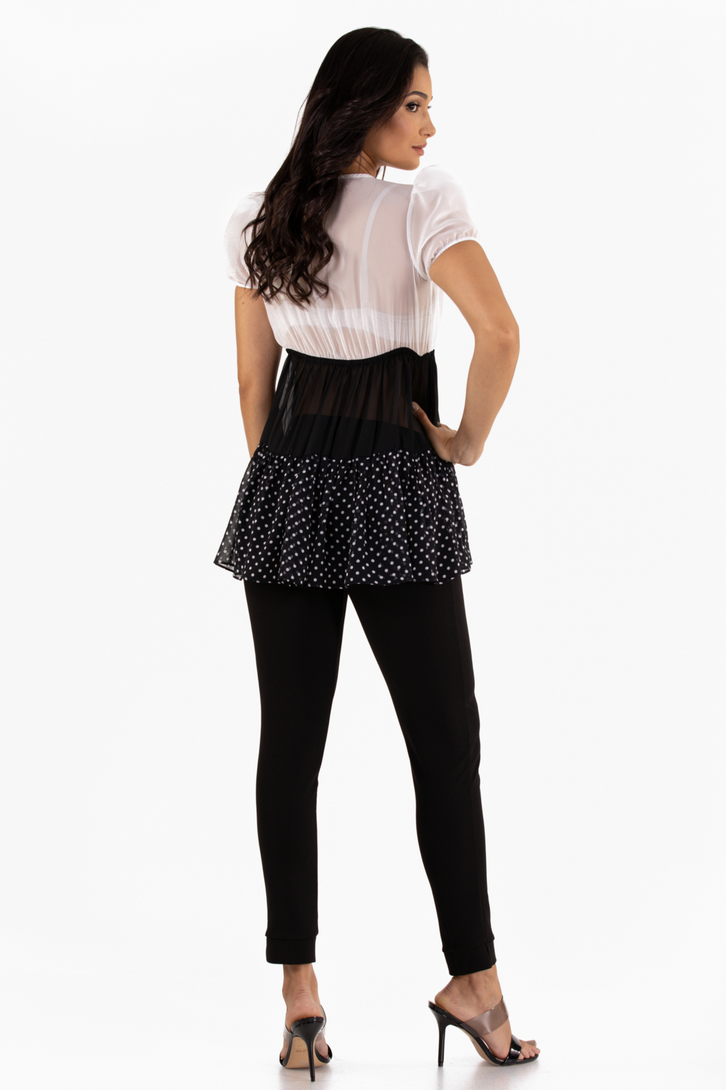 VKY & CO Products Tiered Chiffon Top - Side Cropped Image