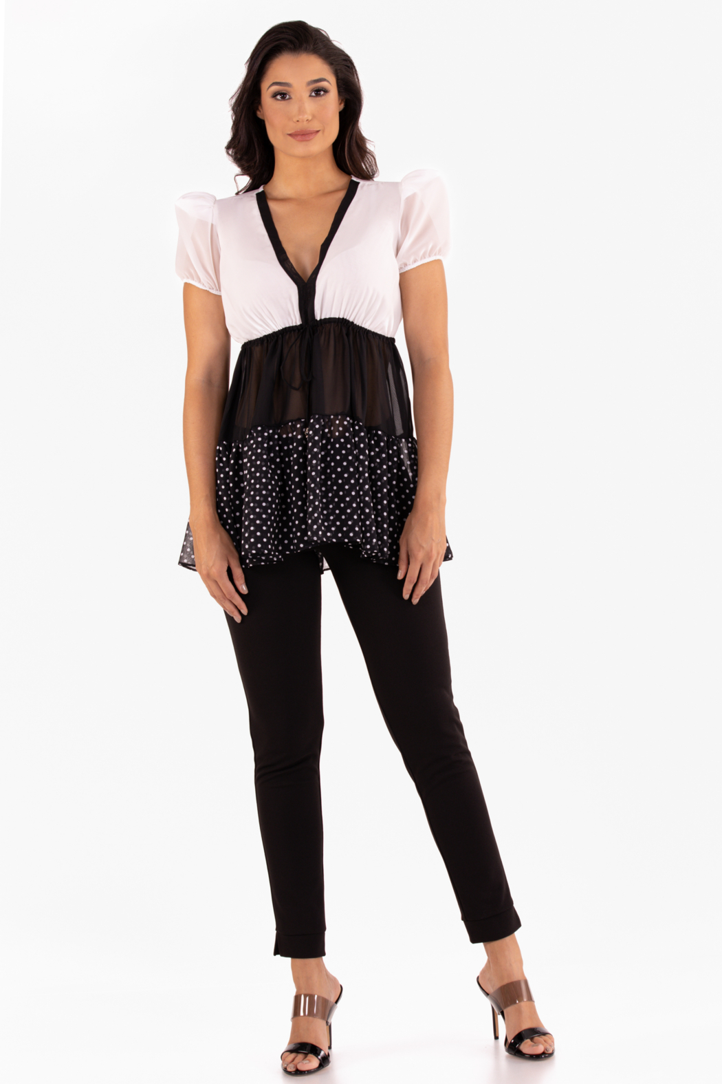 VKY & CO Products Tiered Chiffon Top - Main Image