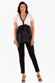 VKY & CO Products Tiered Chiffon Top - Front cropped