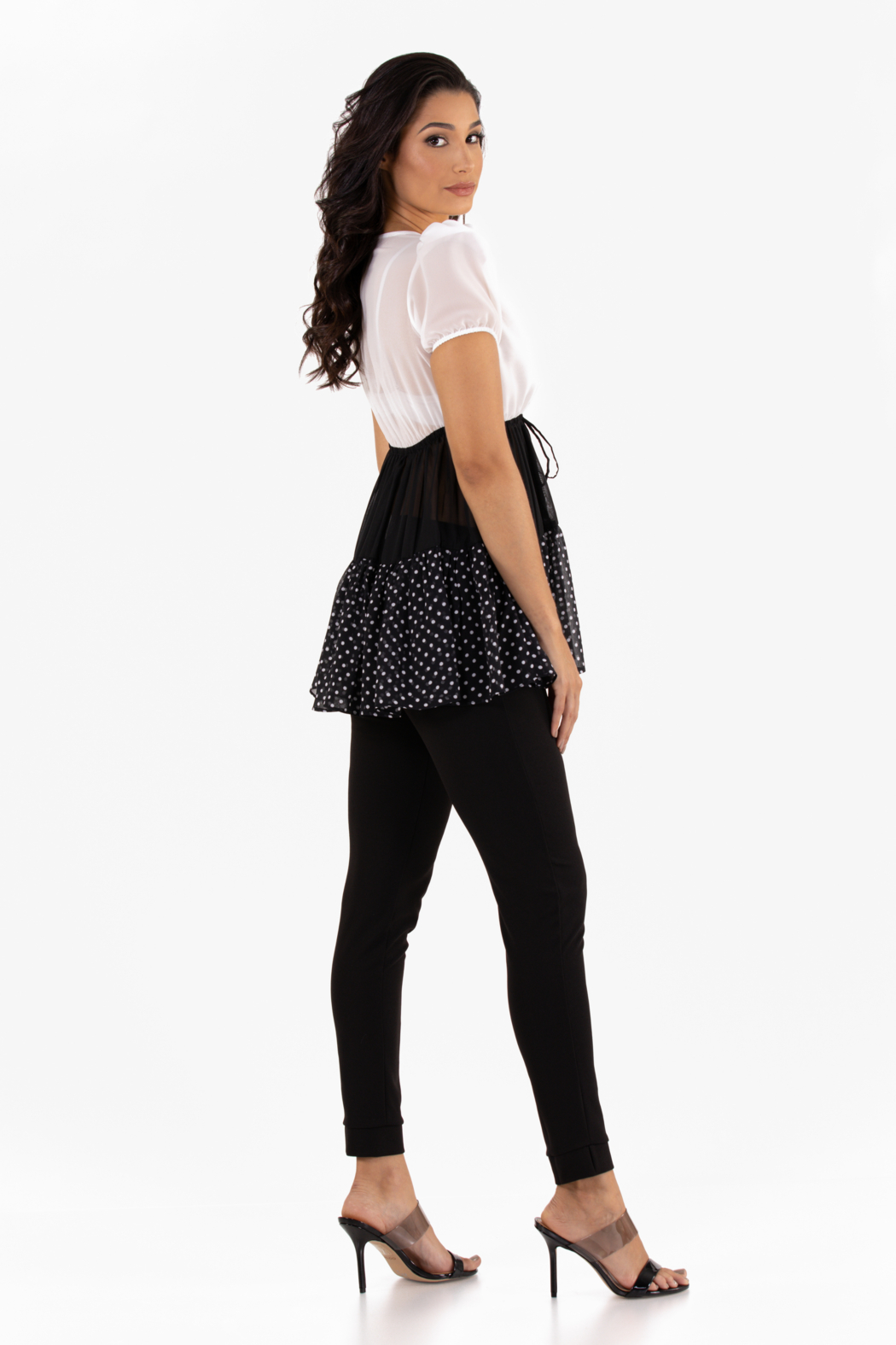 VKY & CO Products Tiered Chiffon Top - Front Full Image