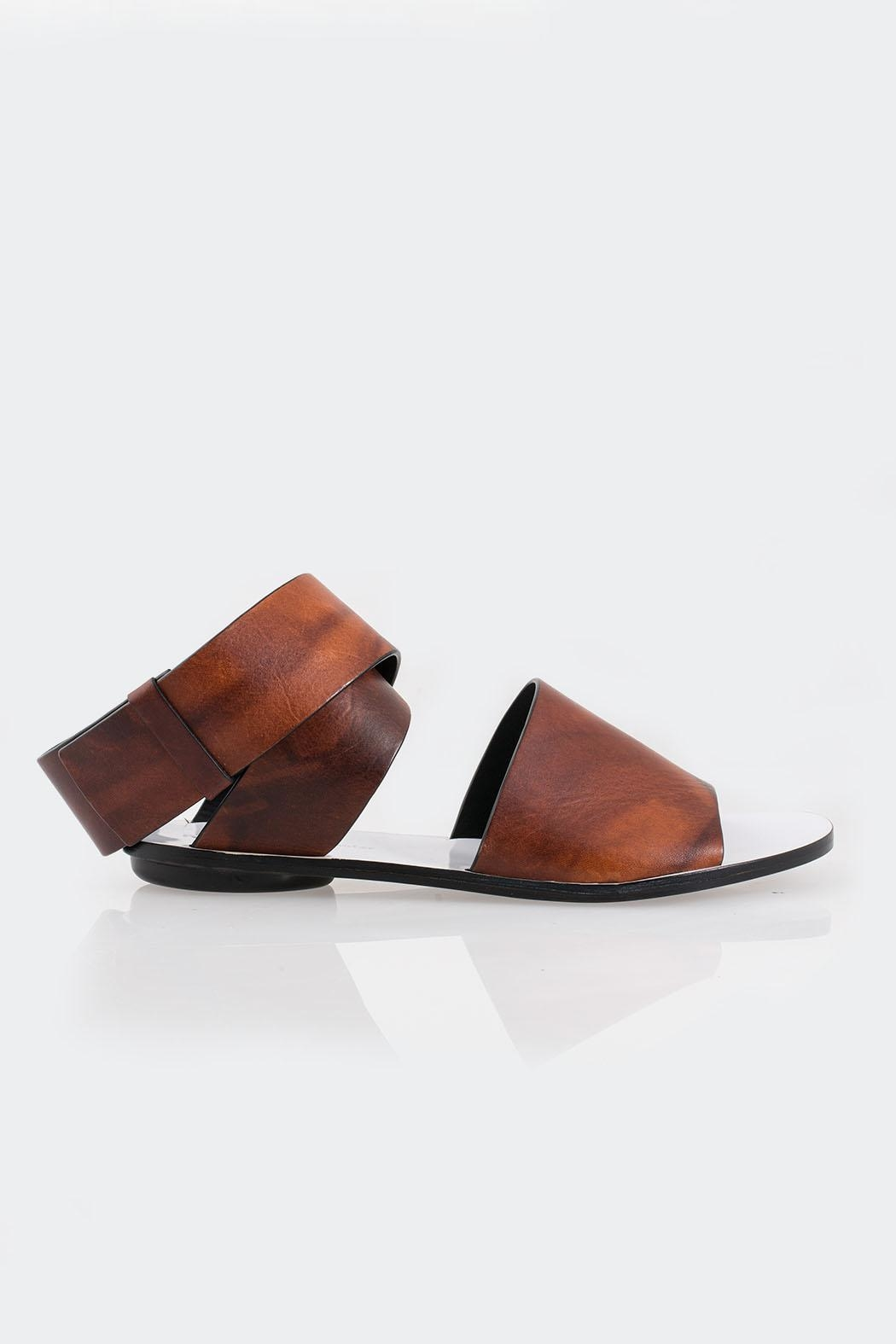 Proenza Schouler Coiled Ankle-Strap Sandal - Front Full Image